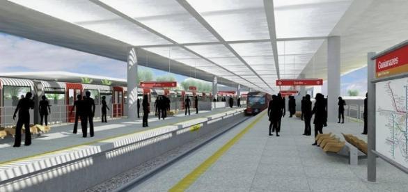 Maquete da Futura estação de Guaianases, cedidas pela Imprensa da CPTM