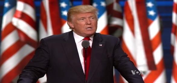 Trump devant la convention nationale républicaine le 22 juillet 2016