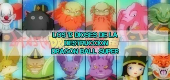 El papel de cada dios destrucción en Dragon Ball Super by Toei Animation