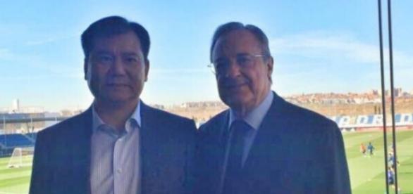 Florentino Pérez et Zhang Jindong à Madrid