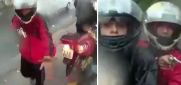 Homem tenta roubar motocicleta e dispara contra casal que foge