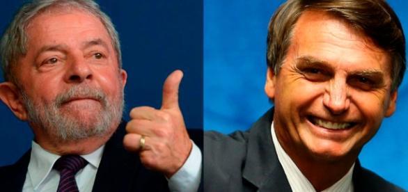 Resultado de imagem para Lula e Bolsonaro