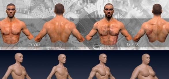 Fotografías que muestras ciertos cambios en los personajes.