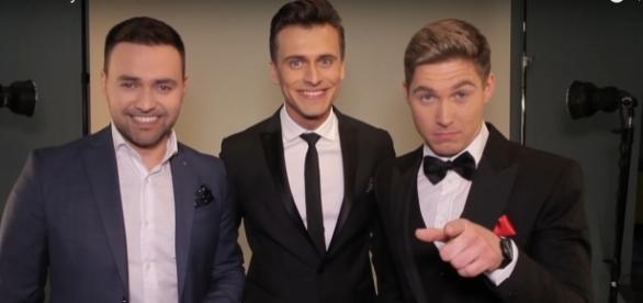 Los tres presentadores de Eurovision 2017