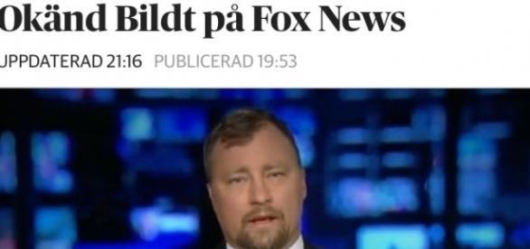 Así se hacía eco la Prensa sueca del insólito compatriota que en Fox News decía que era Consejero de Defensa y Seguridad Nacional, Nils Bildt.