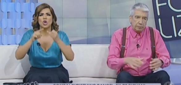 Clima entre os apresentadores Mara Maravilha e Décio Piccnini pega fogo