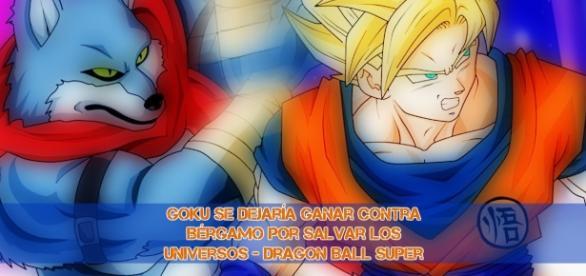 Goku puede perder intencionalmente la batalla contra su rival del universo 9, por salvar la vida de los universos. By toei Animation