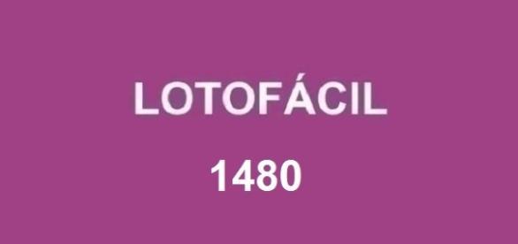 Resultado do concurso Lotofácil 1480