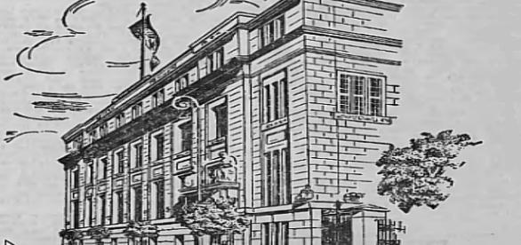 Bank Łódzkich Przemysłowców - przekazał na fundusze obrony narodowej w 1939 ok. 50 mln złotych. Ilustracja z Litzm. Zeitung, 1941