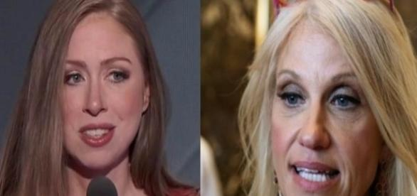 Kellyanne Conway and Chelsea Clinton, via Twitter