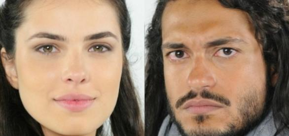 Aruna e Tobias em 'A Terra Prometida' (Divulgação/Record)