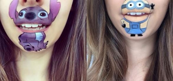 Desenhos incríveis com maquiagem