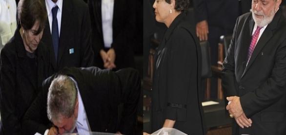 Lula se despede da esposa Marisa Letícia