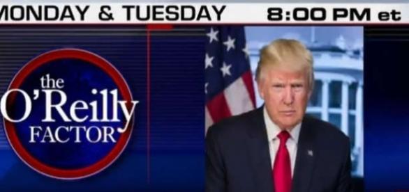 Donald Trump într-un interviu cu Bill O'Reilly la Fox News - Foto: Captură ecran Twitter