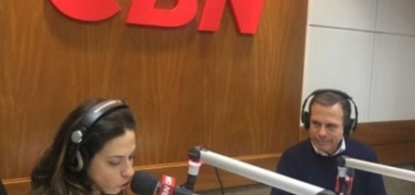 João Dória concede entrevista para a CBN