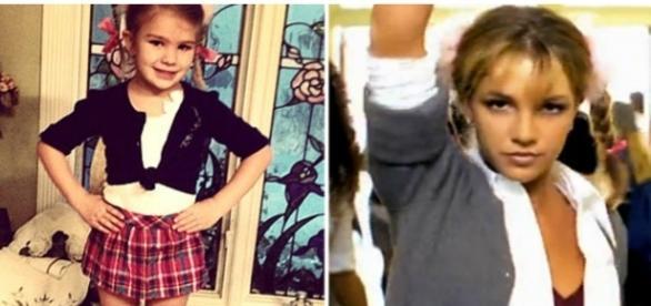 Maddie fazendo imitação da titia