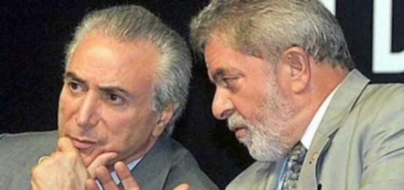 Presidente Michel Temer e ex-presidente Lula
