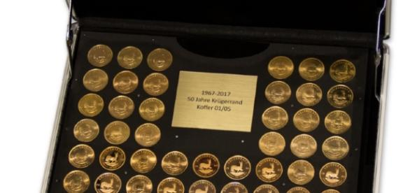 Krügerrand Goldmünzen Kollektion 1967 bis 2017
