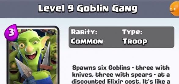 4 New Cards: Dart Goblin, Executioner, Goblin Gang and Battle Ram. (Photo via Clash Royale Arena, wikimedia)