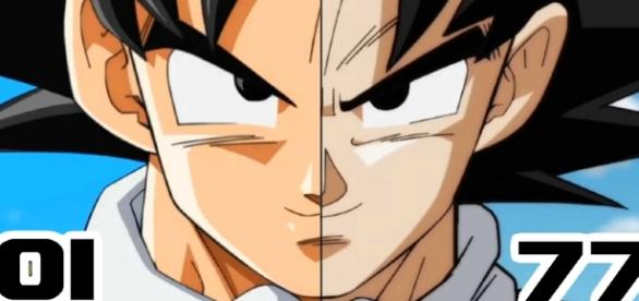 Comparaison Gokû Dragon Ball Super épisode 1 et 77 !