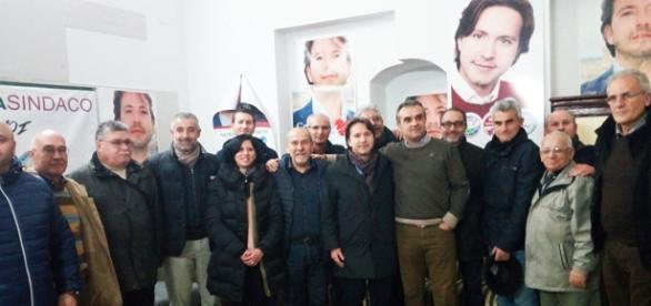 Corrado Figura con Massimo Prado e gli amici di Netini in movimento