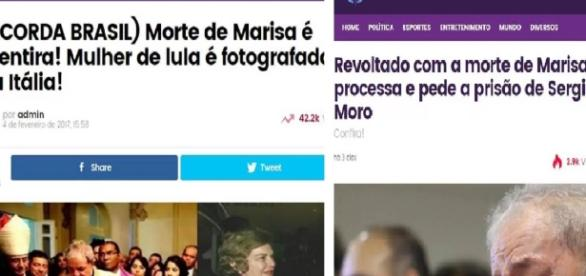 Morte de Dona Marisa dá o que falar - Google