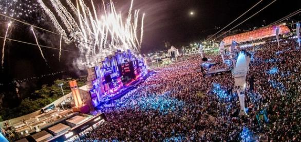O grande festival do Rock in Rio, no Rio de Janeiro