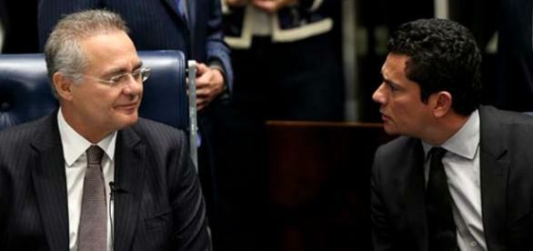 Renan Calheiros frente a frente com Sérgio Moro
