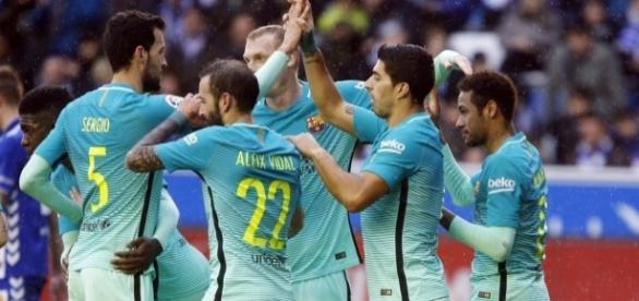 Barcelona fez um belíssima partida antes do jogo de ida das oitavas de final da Champions League