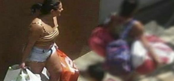 Ex-candidata a vereadora é flagrada participando de saque a uma loja no Espírito Santo.