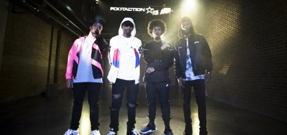 From left to right: Bizzy Crook, KR, Jimi Tents, Martin Sky (balcony level), Saba (Photo Credit: Footaction--with permission)