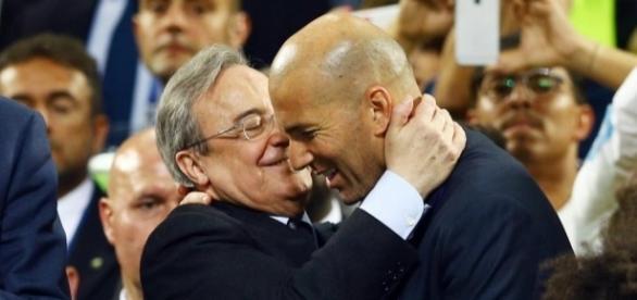 Real Madrid : Pérez encense Zidane - francetvsport.fr