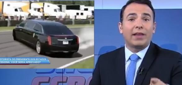 Reinaldo Gottino deu uma derrapada durante reportagem - jovemnerd.com.br
