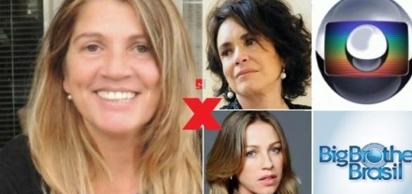 Tássia Camargo dispara contra a Globo, Piovani, Regina Duarte e até o BBB
