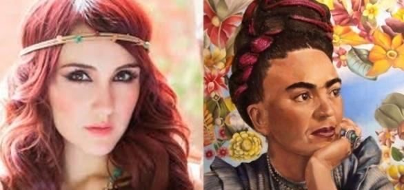 A cantora Dulce Maria é sobrinha neta da pintora mexicana Frida Kahlo