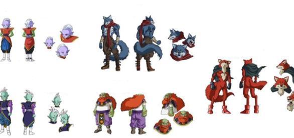 bocetos de nuevos personajes de Dragon Ball Super