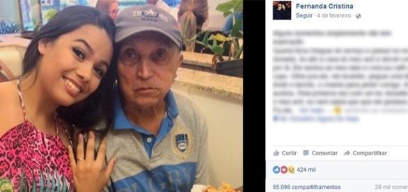 Jovem leva avô para comer fora e post viraliza (Foto: reprodução Facebook)