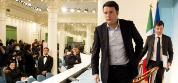 L'ex premier Matteo Renzi con il ministro della Giustizia, Andrea Orlando