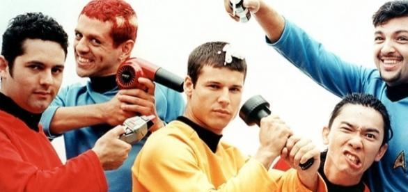 A banda Mamonas Assassinas no auge da carreira.