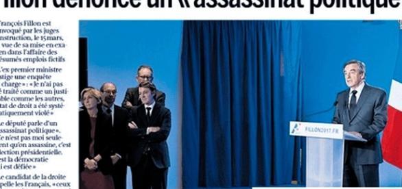 """Presque toute la presse a repris l'expression de François Fillon évoquant un """"assassinat politique"""""""