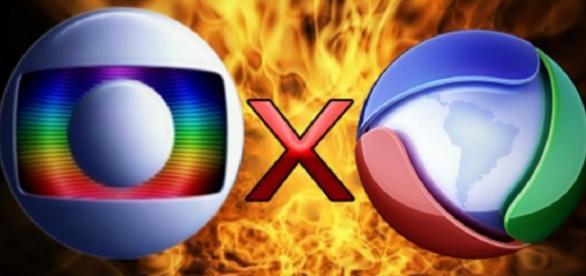 Record e Globo - Imagem/Google