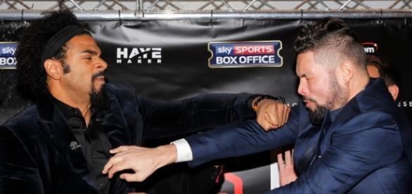 Tony Bellew fumes at David Haye after Hayemaker throws punch at ... - thesun.co.uk
