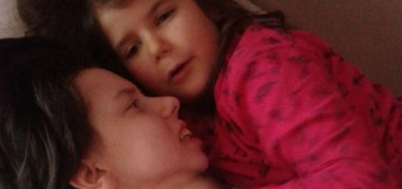 Danijela Kovacevic com a filha Marija