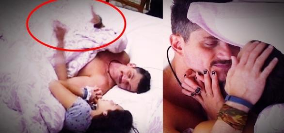Emilly e Marcos no edredom - Google