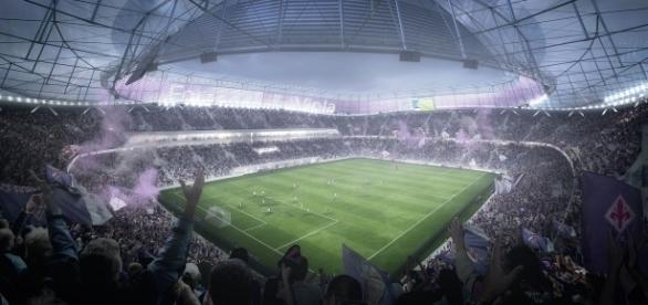 Nel 2019 la posa della prima pietra del nuovo stadio della Viola (foto fiorentina.it)