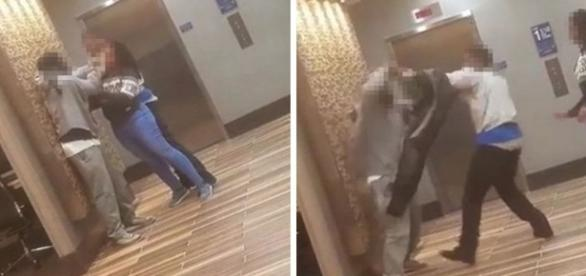 Vídeo foi feito com celular de um funcionário.