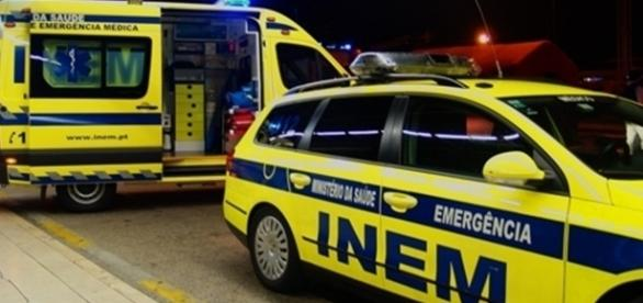 Vítimas foram socorridas pelos bombeiros e elementos do INEM
