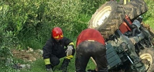 Grave incidente a Lettopalena con un trattore gommato.