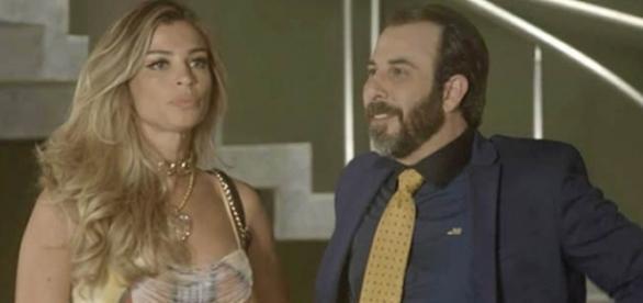 Luciane e Hércules na novela 'A Lei do Amor' (Divulgação/Globo)