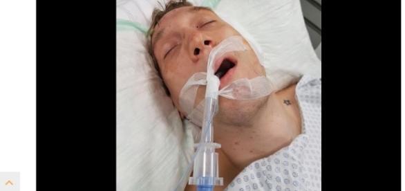 Wurde mit einer Axt von dem Amokläufer in den Kopf geschlagen. Quelle: Facebook